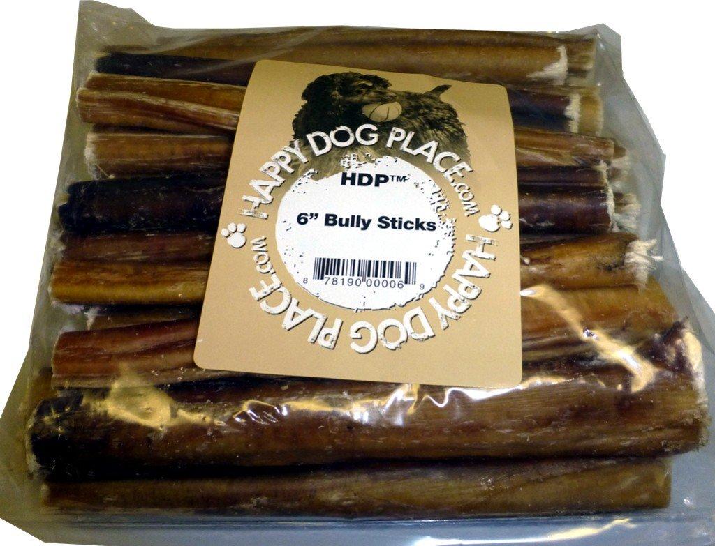 HDP Premium 6 Bully Sticks No Odor Size:Pack of 50