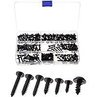 Tornillos autorroscantes,210 piezas tornillos autorroscantes negros, cabeza