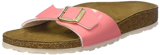 Birkenstock Classic Damen Madrid Birko Flor Pantoletten, Rosa (Two Tone Cream Coral Two Tone Cream Coral), 37 EU
