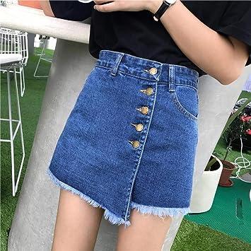 LMSHMDK Pantalones Cortos Mujer Pantalones Vaqueros Azules De ...