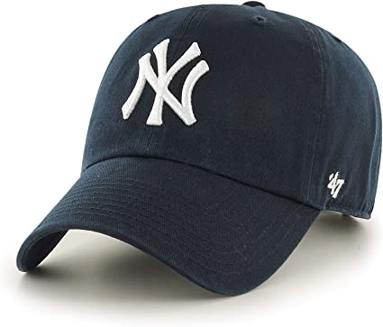 47 Brand- Gorra de Adulto, New York Yankees Clean Up, Azul Marino ...