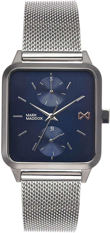 Mark Maddox Reloj Analogico para Hombre de Cuarzo con Correa en Acero Inoxidable HM7106-37