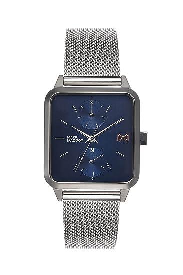 Mark Maddox Reloj Analogico para Hombre de Cuarzo con Correa en Acero Inoxidable HM7106-37: Amazon.es: Relojes