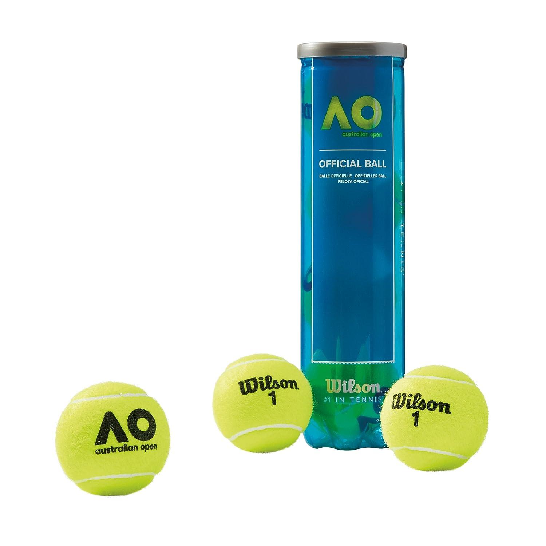 WILSON Australian Open Pack con 4 Pelotas, Unisex Adulto, Amarillo, Talla Única: Amazon.es: Deportes y aire libre