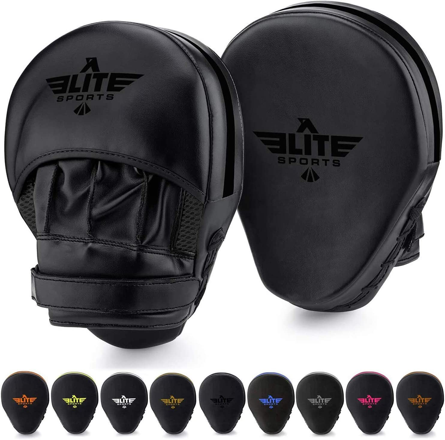 Elite Sports Boxing Mitts for Muay Thai MMA Sparring Training Punching Focus Punch Target Mitts and Pads
