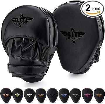 Focus Pads Pair Elite Boxing Mitt Punch Training Target Thai Kick Karate MMA