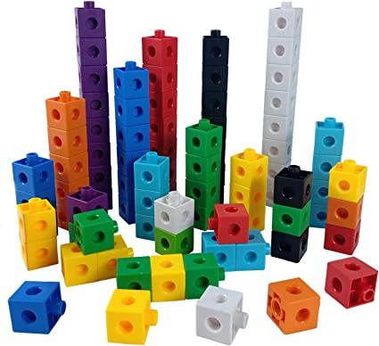 Snap Pop Cubes for Math Counting set of 100