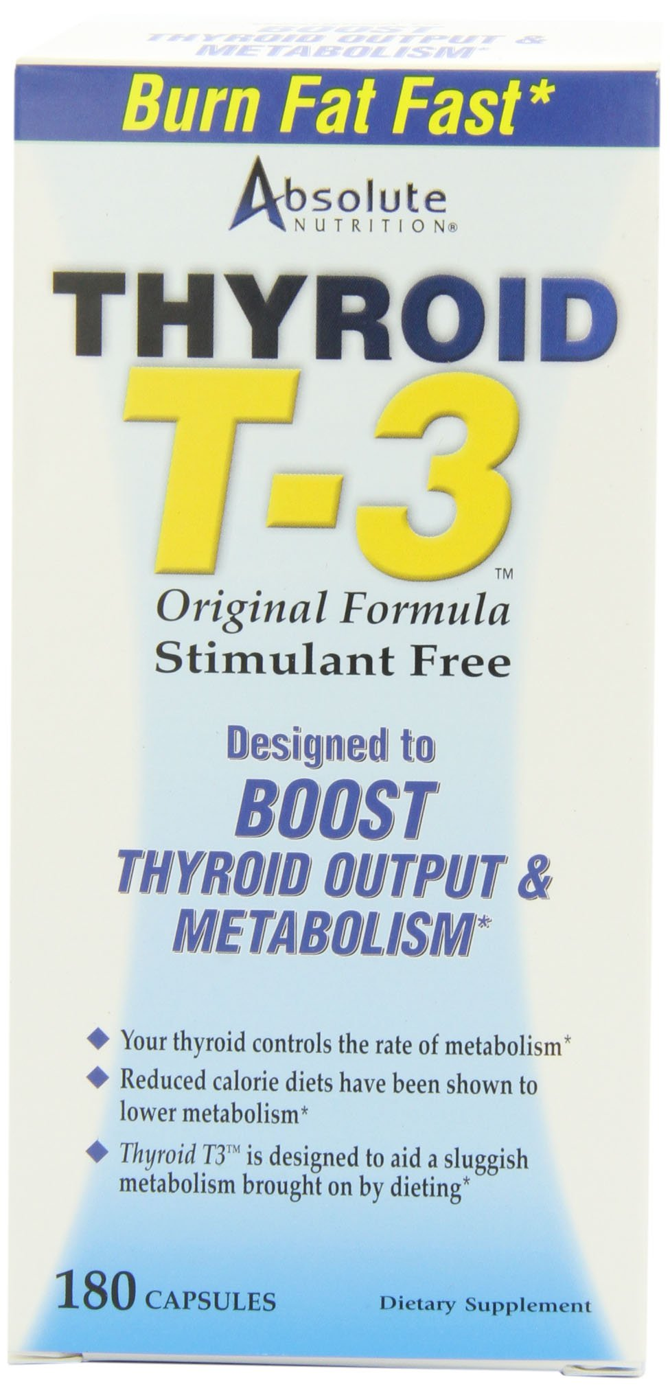 Absolute Nutrition Thyroid T-3 Radical Metabolic Booster, 180 Capsules
