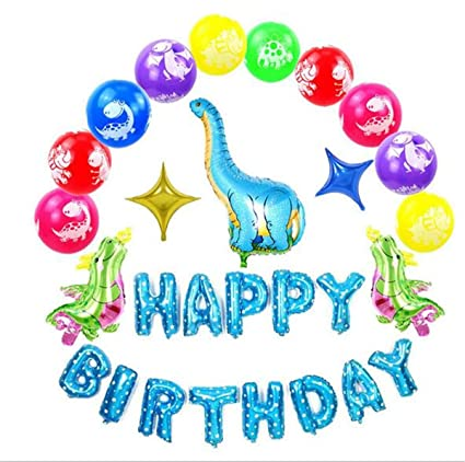 Amazon.com: Kits de globos de dinosaurio, decoración de ...
