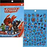 UPD 45756MZ Justice League Book- 4 Pages Over 200 Stickers, Multi
