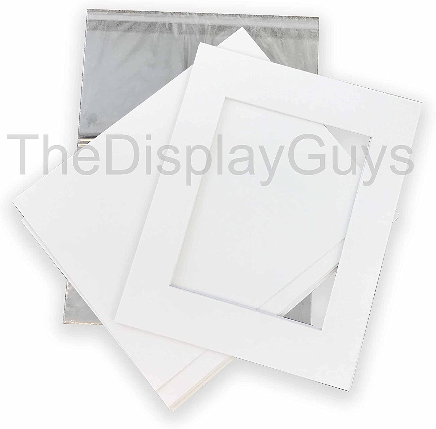 Mat Board Center Pack of 100 Acid-Free 5 1//4 X 7 1//8 inches Crystal Clear Sleeves Storage Bags for 5x7 Photo Framing Mats Mattes