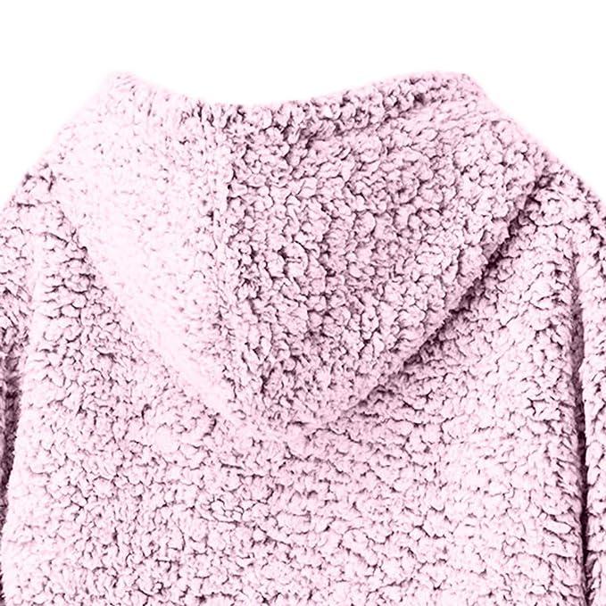Abrigo de Felpa para Mujer, BBestseller Cardigan Jacket Parka de Punto de Mujer de Manga Larga Gruesa con Capucha Abierta Chaqueta de Punto: Amazon.es: Ropa ...