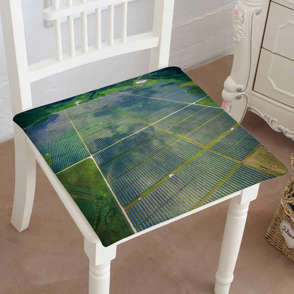 Mikihome Dining Chair Pad Cushion View Over Solar Panel Farm Outside ustin Texas Fashions Indoor/Outdoor Bistro Chair Cushion 16''x16''x2pcs