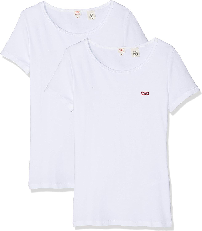 Levis 2 Pack tee Camiseta para Mujer: Amazon.es: Ropa y accesorios