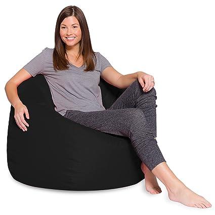 Big Comfy Bean Bag Chair: Posh Large Beanbag Chairs For Kids, Teens And  Adults