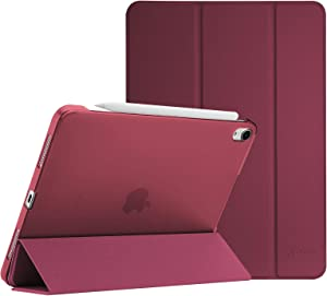 """ProCase iPad Air 4 Case 10.9 Inch 2020 iPad Air 4th Generation Case A2324 A2072 A2316 A2325, Slim Stand Hard Back Shell Protective Smart Cover Cases for iPad Air 10.9"""" 4th Gen 2020 -Wine"""