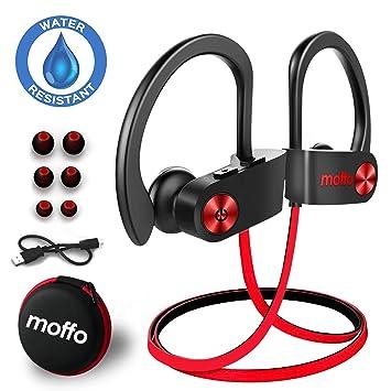 a97d000a743 Bluetooth Headphones, Moffo Wireless Sport HD Stereo IPX5 Sweatproof in Ear  Earbuds Waterproof Headset with