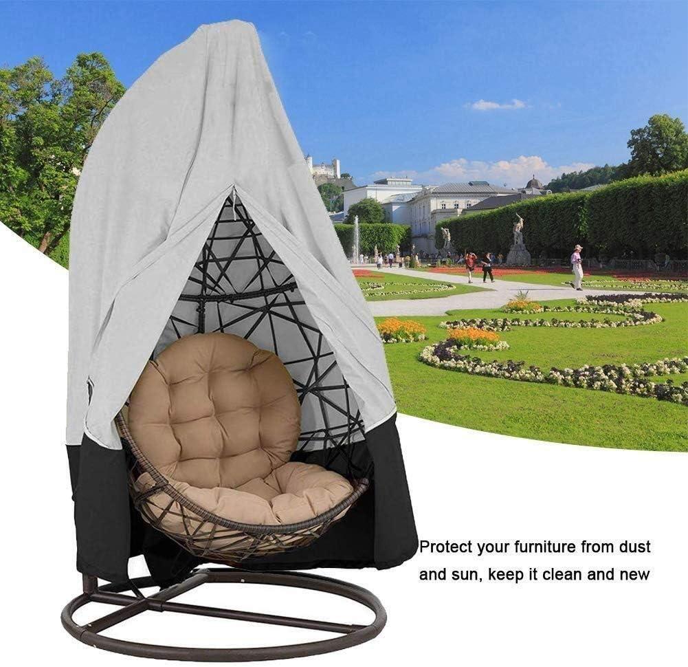 Cubierta de los muebles LXLA - cubiertas del patio silla colgante, grandes mimbre huevo cubiertas de la silla del oscilación, fundas for sillas de Altas Prestaciones al aire libre muebles (Tamaño, 232