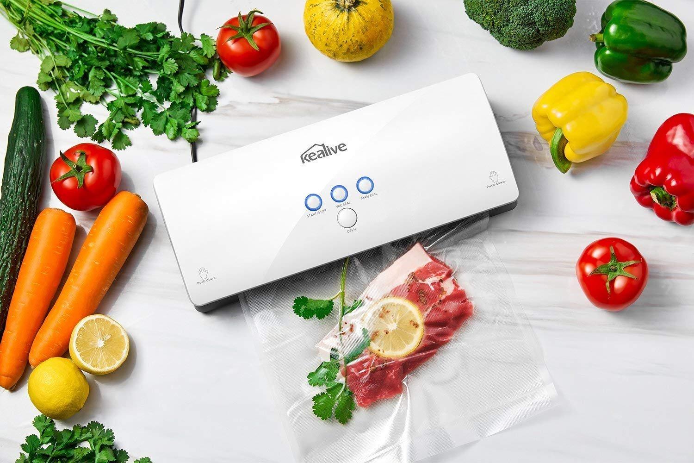 Kealive Vakuumierer - Vakuumiergerät, Lebensmittel bleiben bis zu 8x länger frisch - natürliche Aufbewahrung ohne Konservierungsstoffe, 30cm lange Schweißnaht, einfach zu bedienen, automatische Konser