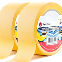 Sanojtape Premium PVC Putzband Abdeckband Gelb Geprägt 50mm x 33m