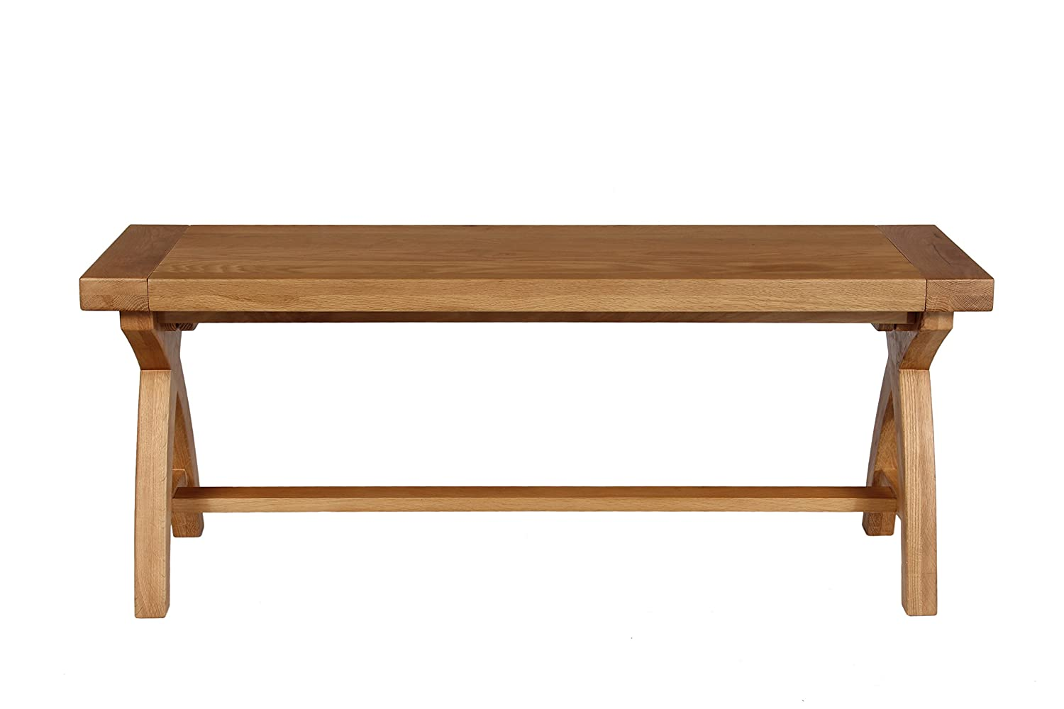 Peachy Cross Leg Country Oak Dining Bench 120Cm Amazon Co Uk Squirreltailoven Fun Painted Chair Ideas Images Squirreltailovenorg