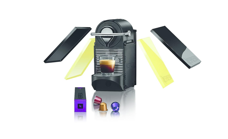 Krups Nespresso Pixie Clips XN3020 - Cafetera de cápsulas de 19 bares, 2 programas de café, bandeja extraíble, indicador luminoso de depósito vacío y ...