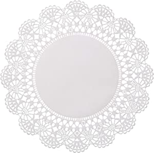 Round 5 inch Paper Lace Table Doilies – White Disposable Placemats Great for Serving Small Treats or Rolling Around Silverware (Pack of 100)