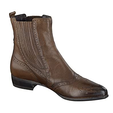 18507c5ebdd0 Di Donna Shoes Boots Ankle Boots Brown Leather 4 UK  Amazon.co.uk  Shoes    Bags