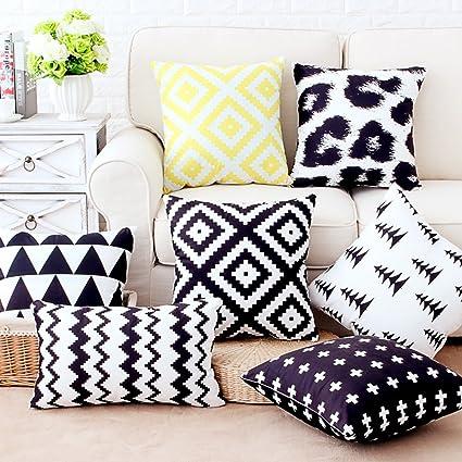 Coliang - Bellissimo cuscino per divano, motivo geometrico moderno e ...
