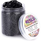Assorted Size Small Rubber Bands for Black Elastics Hair Ties Braiding Ponytail Holders Mixed Size Plastic Rubberbands…