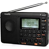 Tivdio V-115 FM AM SW Radio Bass Sound MP3 Player REC Voice Recorder with Sleep Timer (Black)