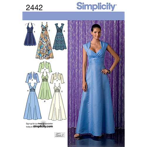 Simplicity H5 6-8-10-12-14 Sewing Pattern 2442 Special Occasion