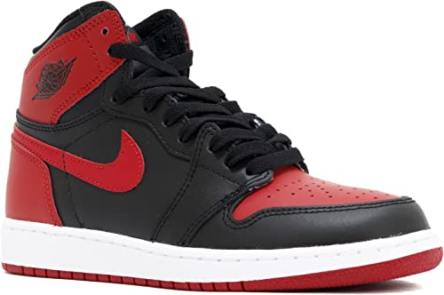 nike air jordan 1 i bred banned bg gs youth 575441 001 us size 5 5y amazon ca shoes handbags nike air jordan 1 i bred banned bg gs