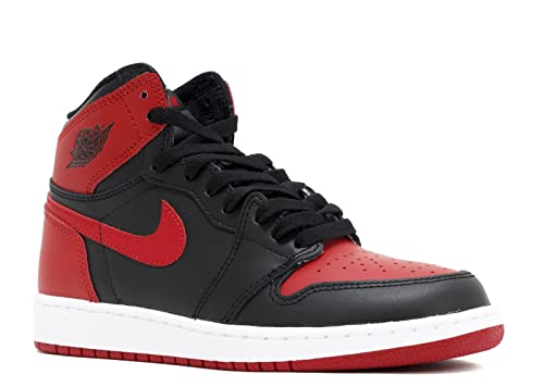 the best new collection exclusive range Nike Air Jordan 1 Retro High OG BG Chaussures de Basket-Ball, Homme, Noir,  38