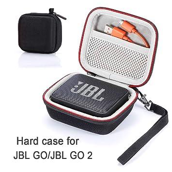 Estuche para JBL Go/JBL GO 2, Estuche rígido para Transporte de Viaje para JBL GO/JBL GO 2 Altavoz inalámbrico portátil Bluetooth (Estuche, Altavoz y ...
