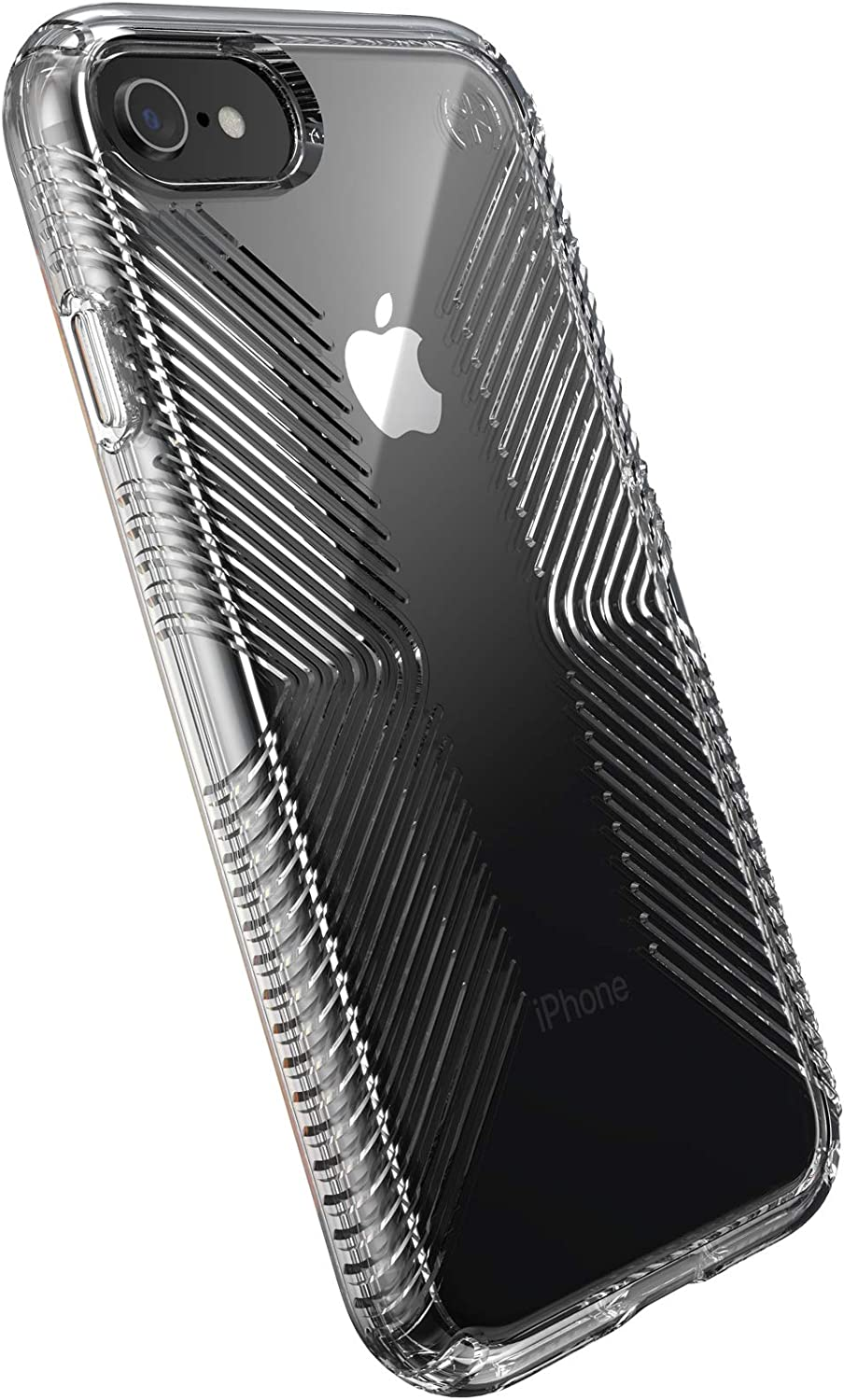 Speck Products Presidio Perfect-Clear with Grip Case, Compatible with iPhone SE (2020)/iPhone 8/iPhone 7, Clear/Clear (136216-5085)