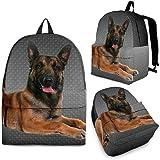 Belgian Malinois Dog Print Backpack-Express Shipping