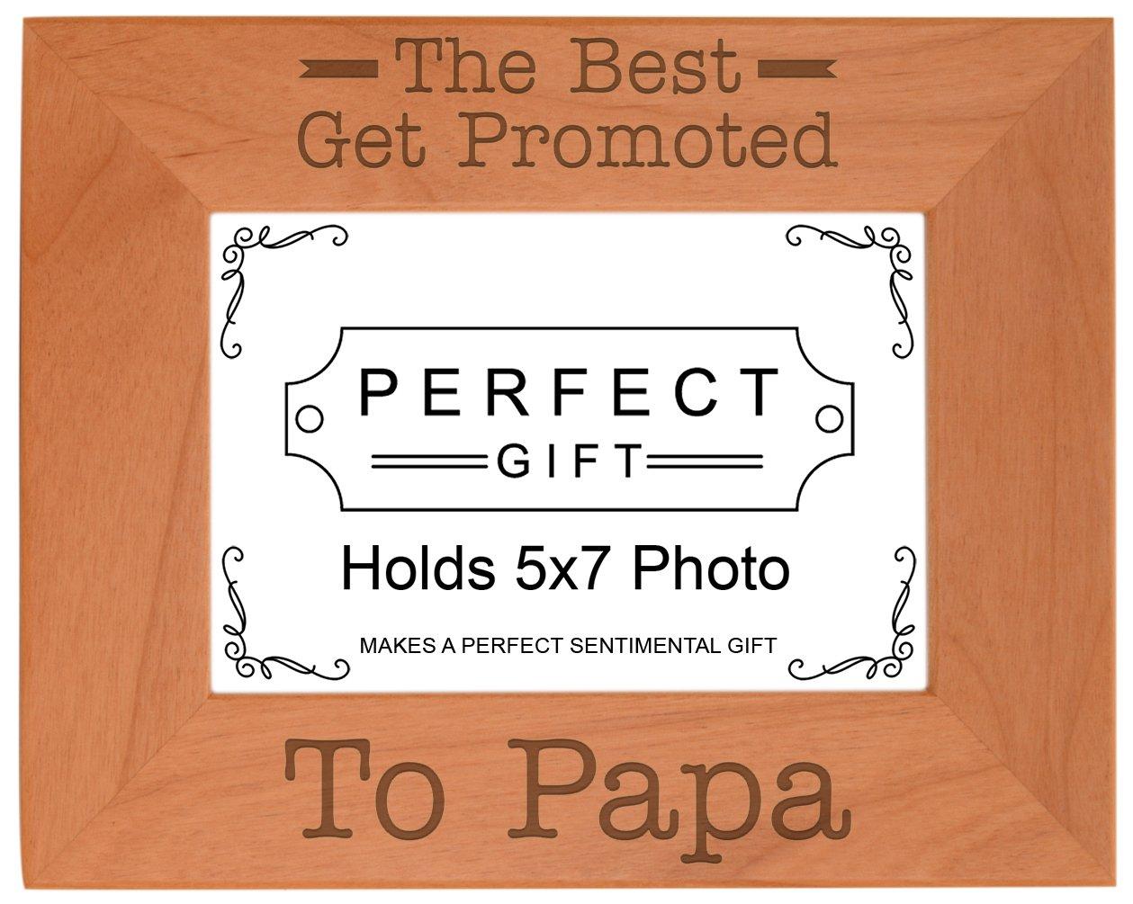 Mejor abuelo Obtenga Promover a Papa natural regalo de madera natural Papa grabado fotos 728582