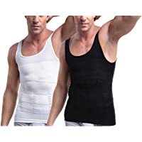 Mens Slimming Body Shaper Vest Shirt, Compression Muscle Tank