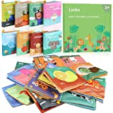 Lictin Baby First Cloth Book-8 Pcs Nontoxic Fabric Baby Soft Book Set Baby Cloth Activity Crinkle Soft Books for Infants…