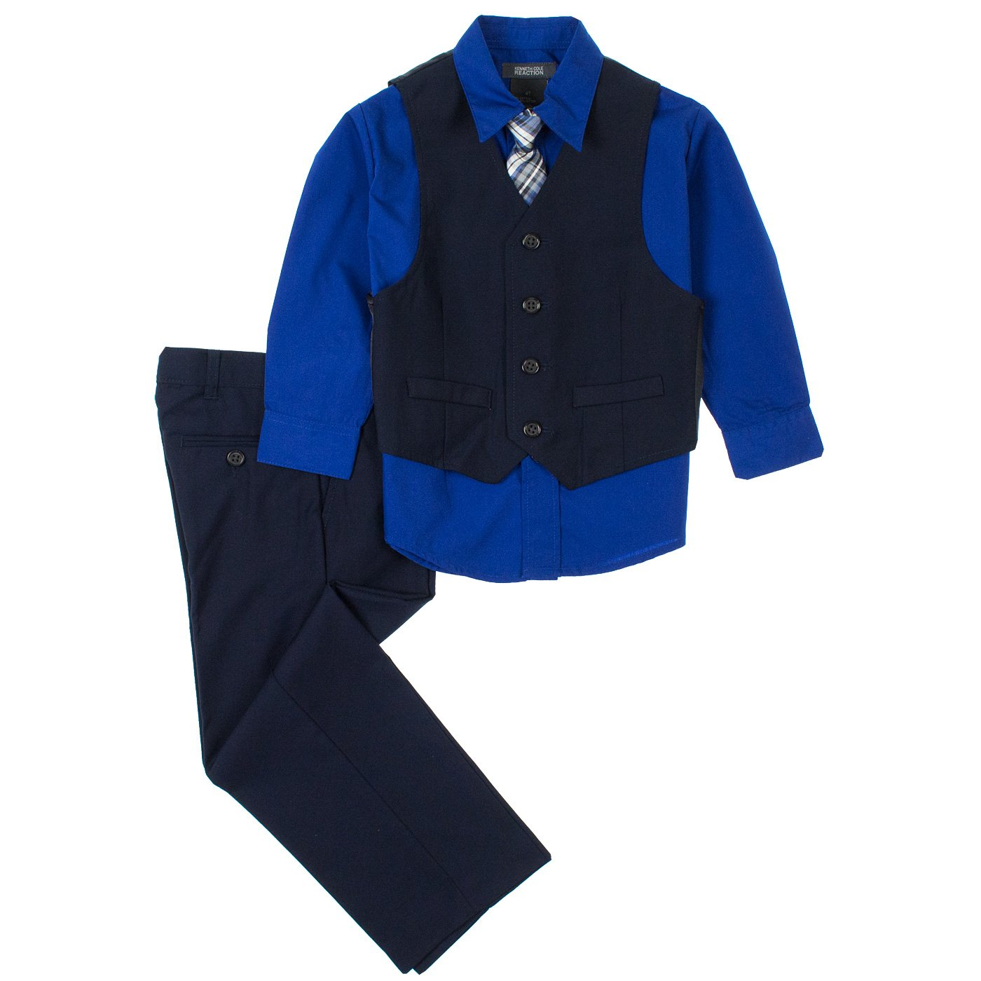 Kenneth Cole Boys 4-Piece Vest & Dress Pants Set