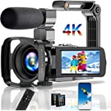 Video Camera Camcorder 4K Digital YouTube Vlogging Camera,30M 18X Digital Zoom Camcorder 3 in Touch Screen Camcorder with Mic