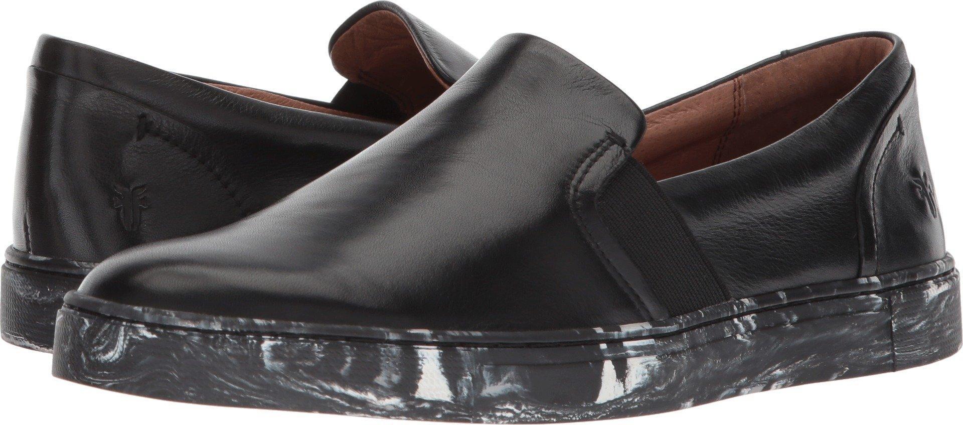 FRYE Women's Ivy Slip Black Polished Soft Full