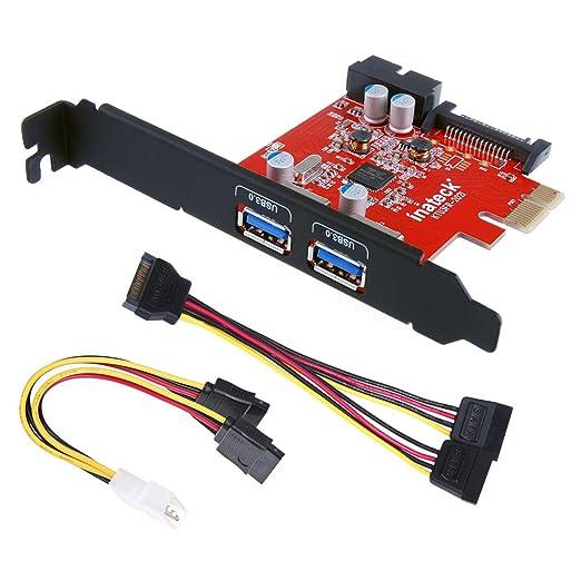 178 opinioni per [Nuove] Inateck® PCI-E 2-Port USB3.0 Express Card 2 USB3.0 esterne porte e 1