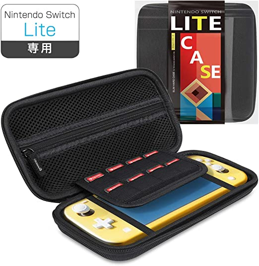 N/A Nintendo Switch Lite Case Nintendo Switch Light Case Game Card Eight Storage Bag EVA Material Dust-Proof Waterproof Impact Carry Convenient Game Card Case (Black) [video game]: Amazon.es: Videojuegos