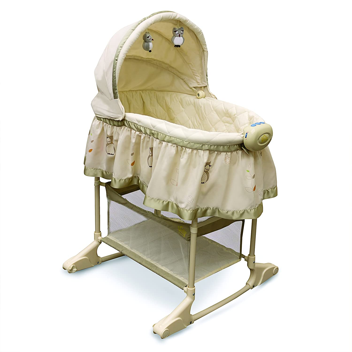 Bily 2-In-1 Bassinet Owl, Light Brown B4410OWL