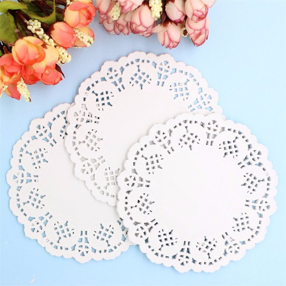 Amazon Decora 35inch Round White Lace Paper Doilies For