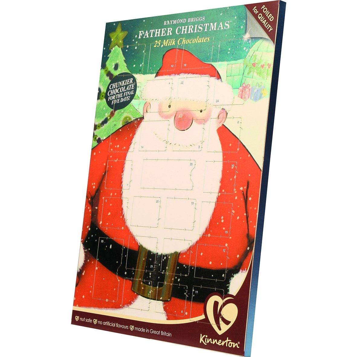 Kinnerton Raymond Briggs Father Christmas Milk Chocolate Advent ...