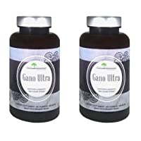 Aloha Medicinals – Gano Ultra - Certified Organic Mushrooms – Red Reishi, Ganoderma Lucidum, Applanatum, Tsugae – Health Supplement –90 Capsules (2 Pack)