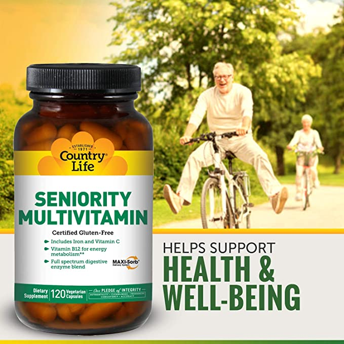 Buy Country Life - Seniority Adult Multiple Multi-Vitamin with Digestive  Enzymes - 120 Vegetarian Capsules by Country Life Online at Low Prices in  India - Amazon.in
